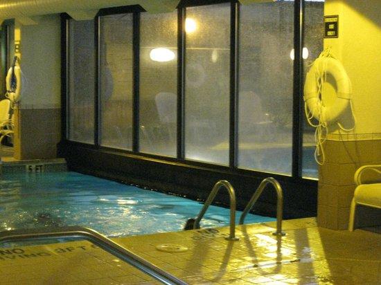Drury Inn & Suites St. Louis Fenton: Pool showing Indoor-Outdoor Barrier