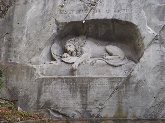 Löwendenkmal: Dying Lion Monument