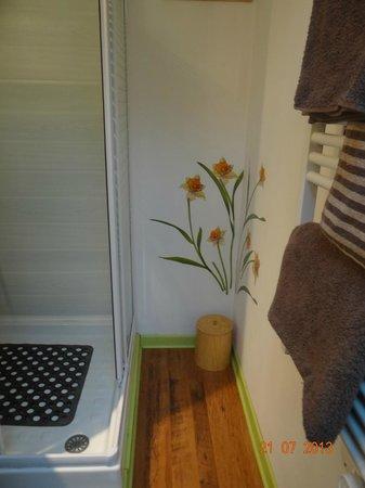 Les Passiflores : La salle de bains de la chambre ANIS