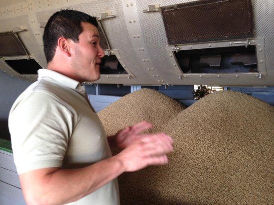 Doka Estate Coffee Tour: Jonathon describing the seed to cup process