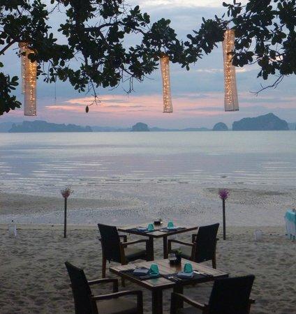 The Tubkaak Krabi Boutique Resort: Utsikt från middagsbordet
