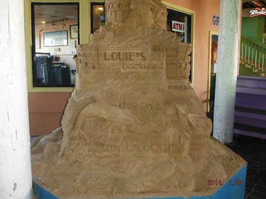 Louie's Backyard: Sand castle at entrance