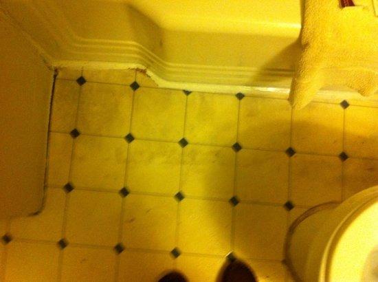 Red Carpet Inn: bathroom floor