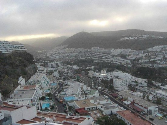 Servatur Puerto Azul: view of town on cloudy day