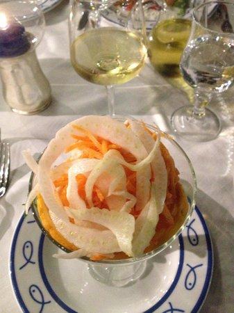 Ristorante Bagni Delfino: antipasto cocktail di gamberi