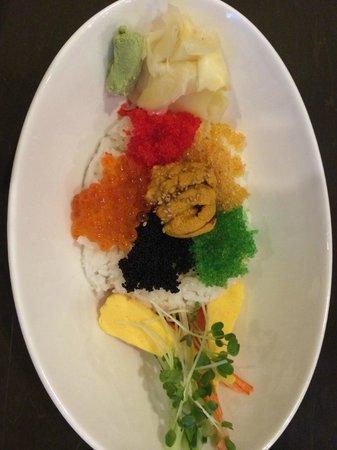 Blue Ocean: Fish roe and sea urchin rice