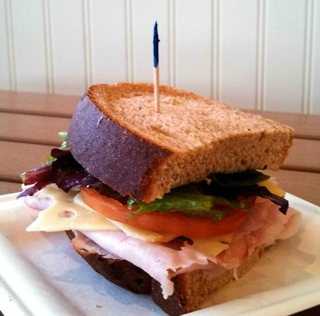Blue Coast Coffee: Black Forest Ham & Swiss Sandwich on Wheat Bread