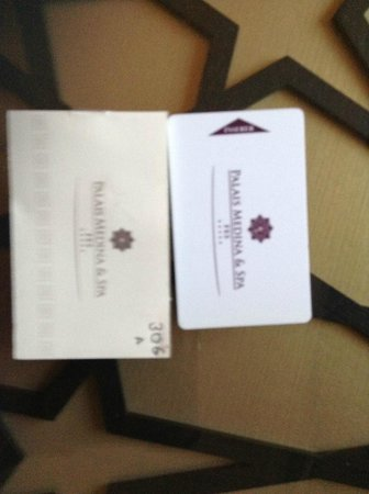 Palais Medina & Spa : Room keys that stopped working