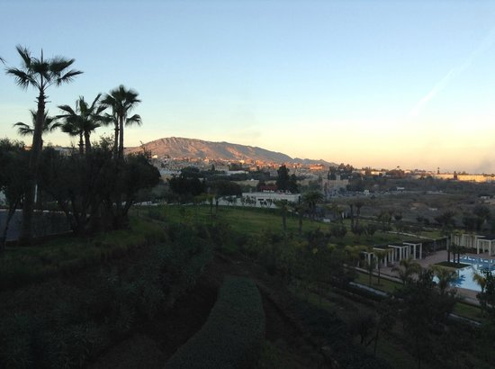 Palais Medina & Spa: View of hotel grounds and the city of Fes in the distance