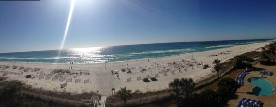 Hampton Inn Pensacola Beach: Panoramic shot from Exec Suite Room 4th Floor