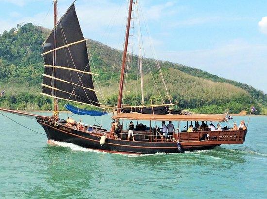 June Bahtra Phang Nga Bay Day Trip: the boat