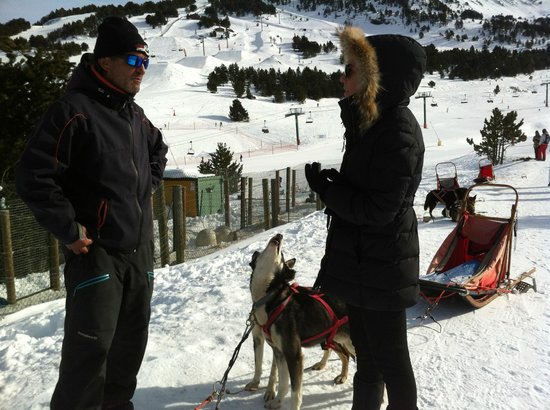 Soldeu, Andorra: Mushing