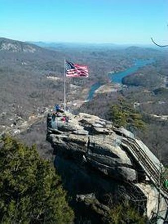 Chimney Rock State Park: view of the Chimney from the opera box
