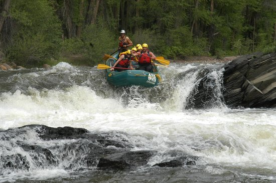 Elk Mountain Expeditions: Slaughterhouse Falls - Great Class 4 Rafting