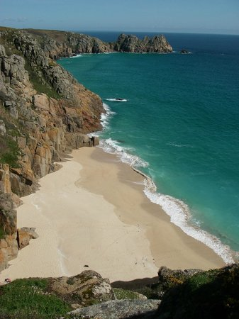 Trevedra Farm Caravan and Camping Site: Porthcurno beach near the Minack Theatre - 10mins drive