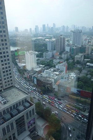 The Continent Hotel Bangkok by Compass Hospitality: view from one of the double rooms (higher floor)