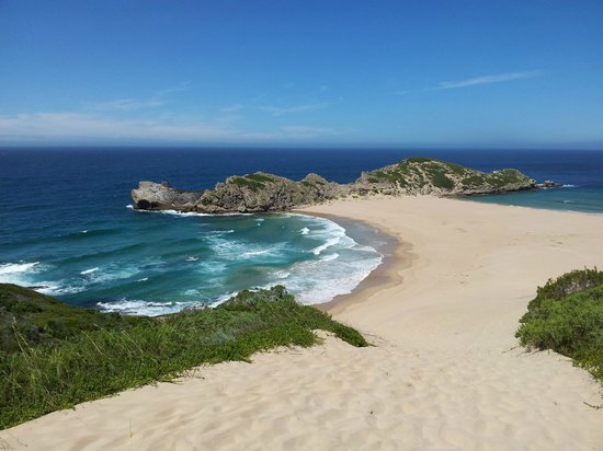 Robberg Nature Reserve: View from the top of Witsand