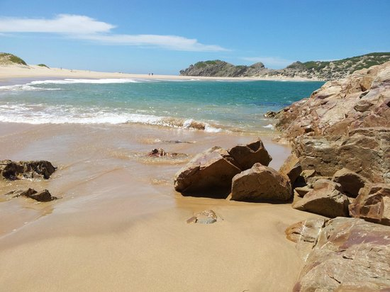 Robberg Nature Reserve : Beach at the bottom of Witsand dunes.