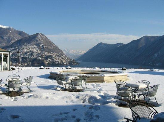 Villa Principe Leopoldo : Die Aussicht auch im Winter traumhaft!