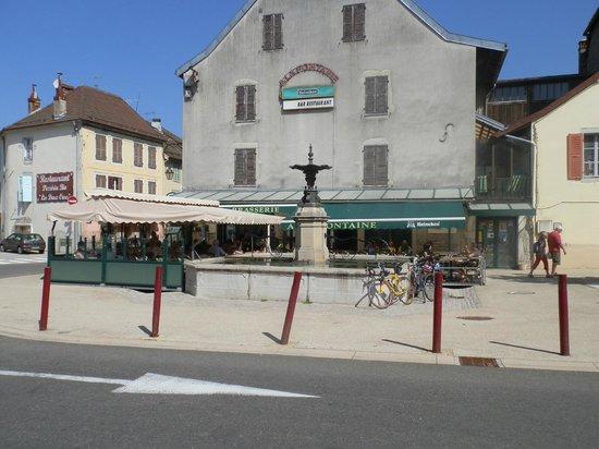 Brasserie a la Fontaine: Het terras .
