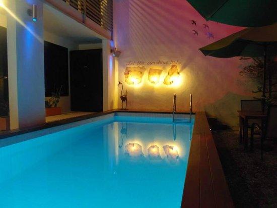 Hotel Casa Ticul: Alberca del tamaño necesario, deliciosa despues de estar en la playa