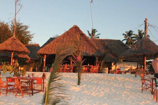 Loca Restaurant Nungwi Zanzibar: Loca restaurant seen from the beach