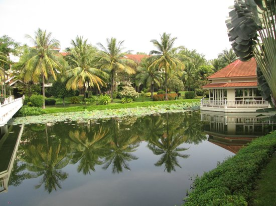 Sofitel Angkor Phokeethra Golf and Spa Resort: pond on the beautiful grounds