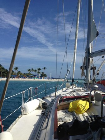 The Boat Club - Day Tours: Front of the Sail Boat