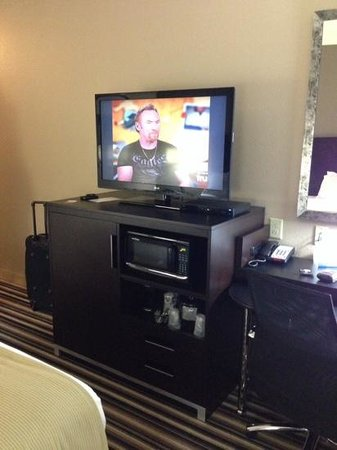 Holiday Inn Express Hotel & Suites Forrest City: Nice sized TV - Steelers Fan Travels ✨✨