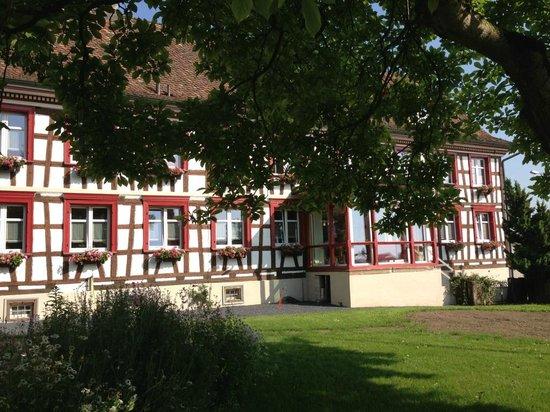 Hotel Garni am Lindeneck: Vue d'ensemble de l'hôtel et du jardin