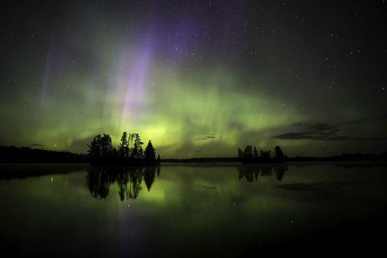 Timber Bay Lodge and Houseboats: Northern lights are beautiful
