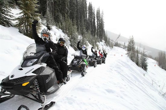 White N' Wild Snowmobile Tours: Fun times out on a snowmobile with your friends!