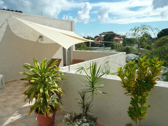 Hotel Villa Iguana: Terrasse