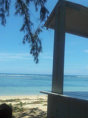 La Varangue du Lagon Chez Denis: vue plage