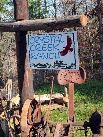 Crystal Creek Ranch : ranch sign