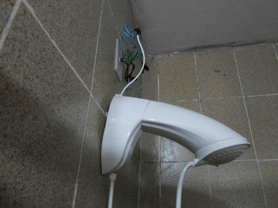 Morro Das Pedras Praia Hotel: la ducha mete miedo con esos cables