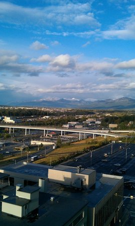 Hilton Anchorage: view from the concierge lounge