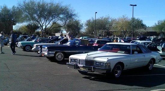 Carefree Resort & Conference Center: Car Show - Resort Parking Lot