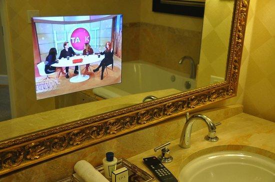 Trump International Hotel Las Vegas: TV in the mirror