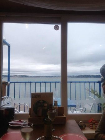 The Breakwater Bistro: View from inside upstairs