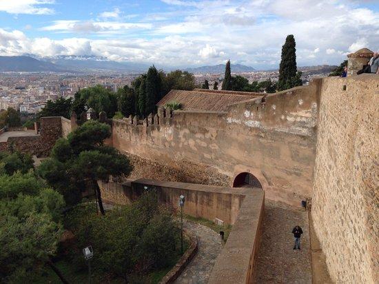 Castillo de Gibralfaro : View from the wall