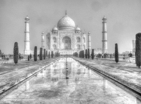 Taj Mahal: Try black & white remember the Taj is white marble