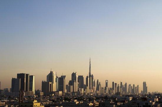 Melia Dubai Hotel: View from the Melia Dubai rooftop pool area