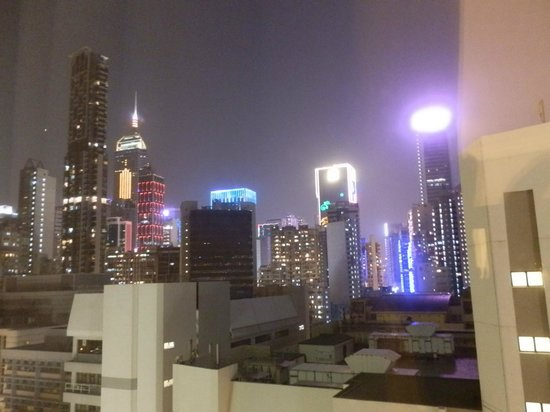 Dorsett Wanchai, Hong Kong: View from floor 15 of Christmas lights