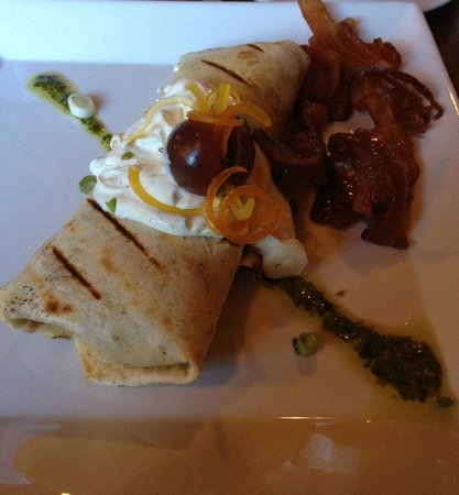 Truffle Pigs Lodge : Breakfast wrap