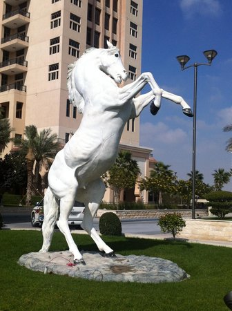 The St. Regis Doha: Huge horse near Al Gassar Ballroom Entrance