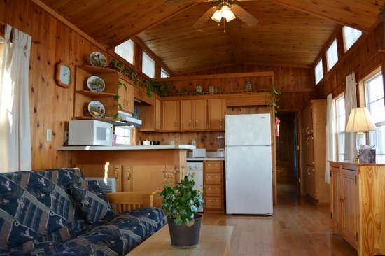 Black Walnut Point Inn : Cabin have fireplaces or AC, full kitchens, access to the pool grill and are expected at breakfa