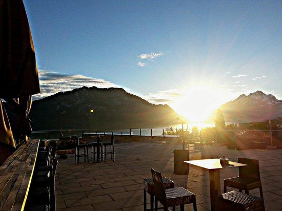 Restaurant Alpenblick: Letzte wohltuende Sonnenstrahlen