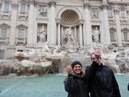 Private Tours of Rome - Vatican, Sistine Chapel and Colosseum Tours : We made a wish at the Trevi Fountain