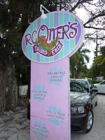 RC Otter's Island Eats : Colorful sign matches the colorful experience!